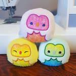 Rainbow Pastel Owls
