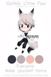 [closed][ota]gothic fox adoptable by areahnapan