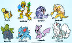 Pokemon Fusions by VazlaKat