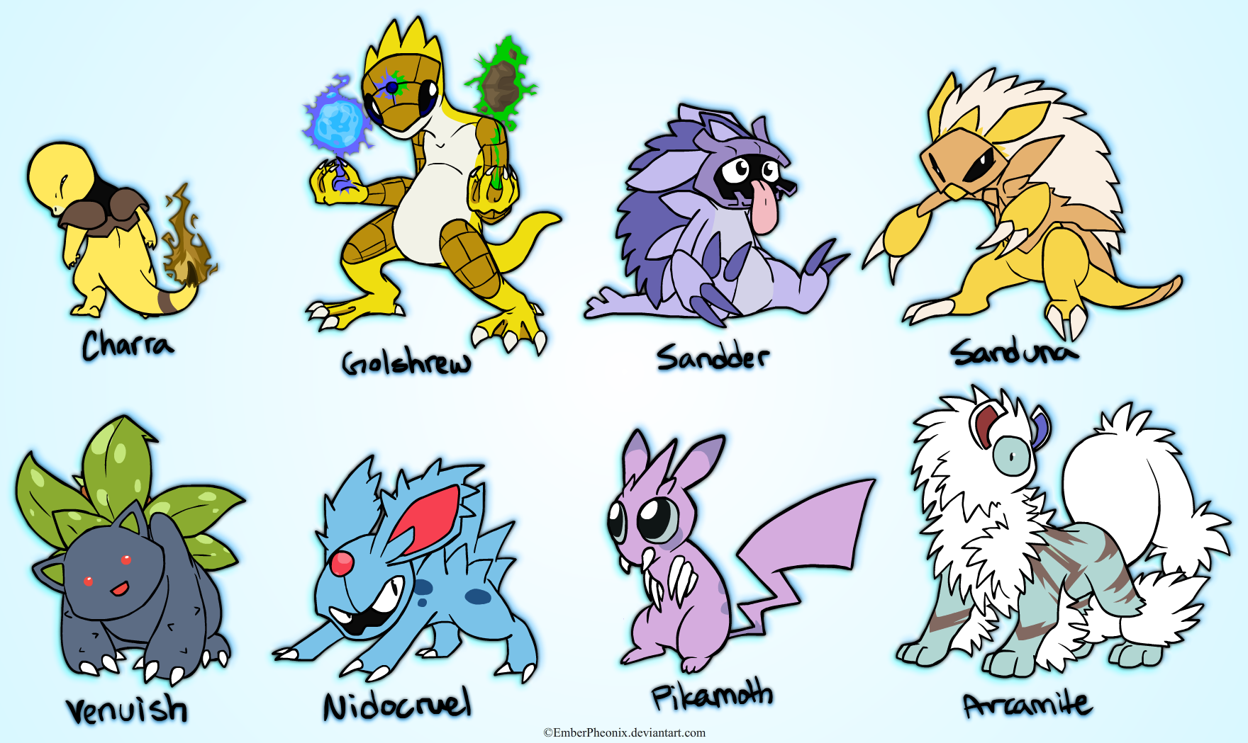 Pokemon Fusions by VazlaKat