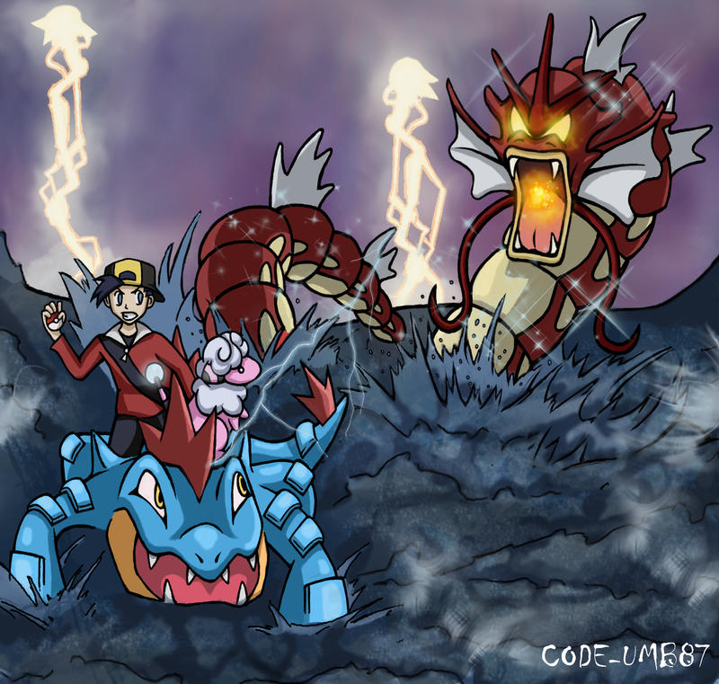 Shiny Wild Gyarados by CODE-umb87 on deviantART