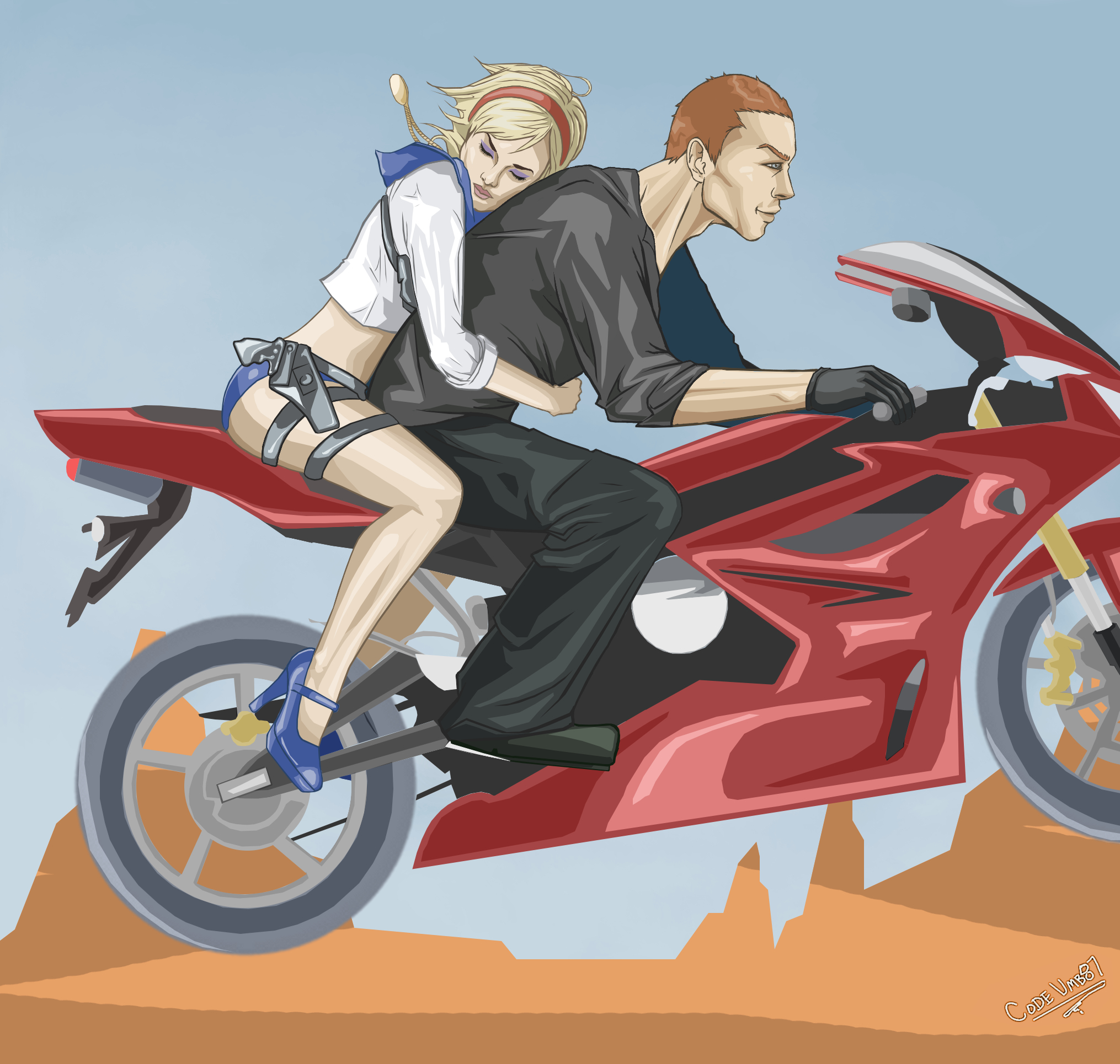 Sherry and Jake: Getaway by CODE-umb87