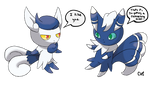 Meowstic and Meowstic
