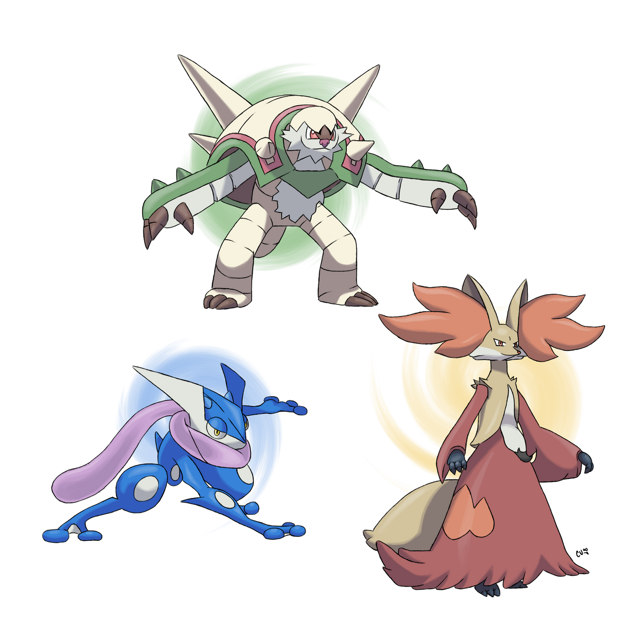 Pokemon X/Y Starters' Final Evolutions by CODE-umb87 on ...
