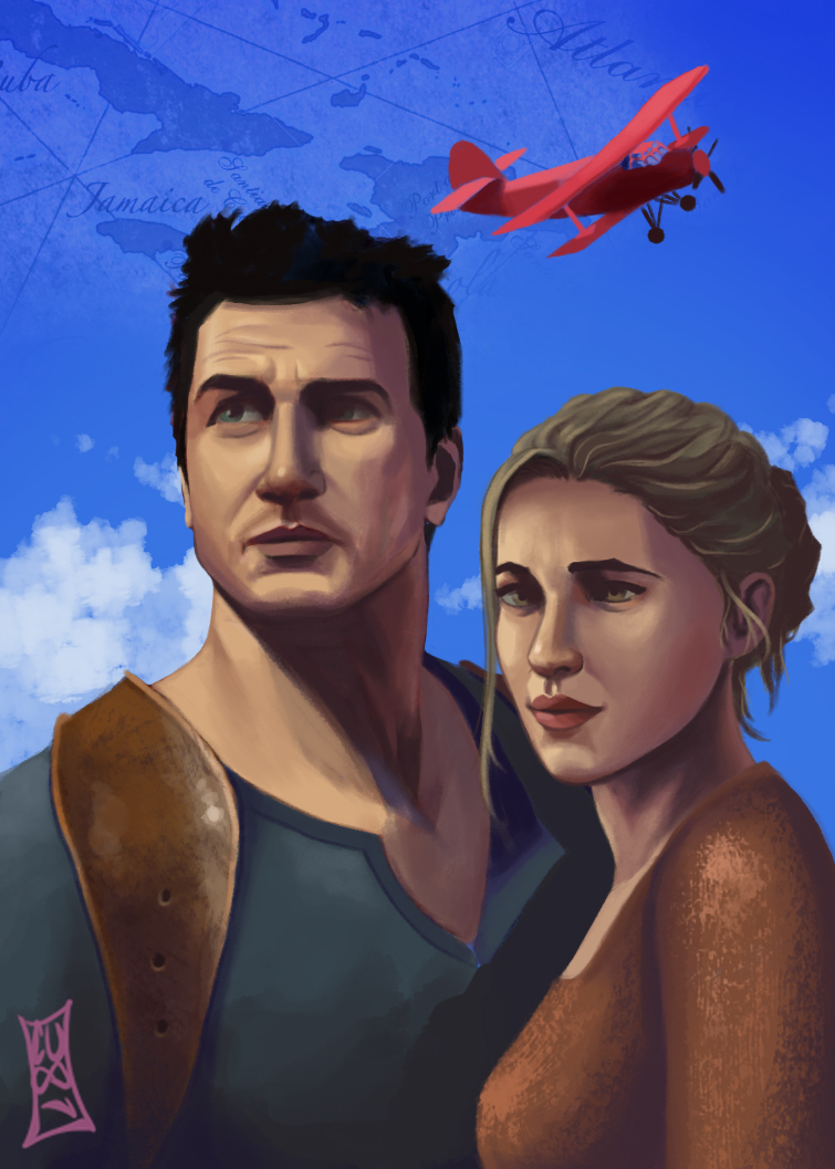 Uncharted 4 Drake And Elena By CODE Umb87