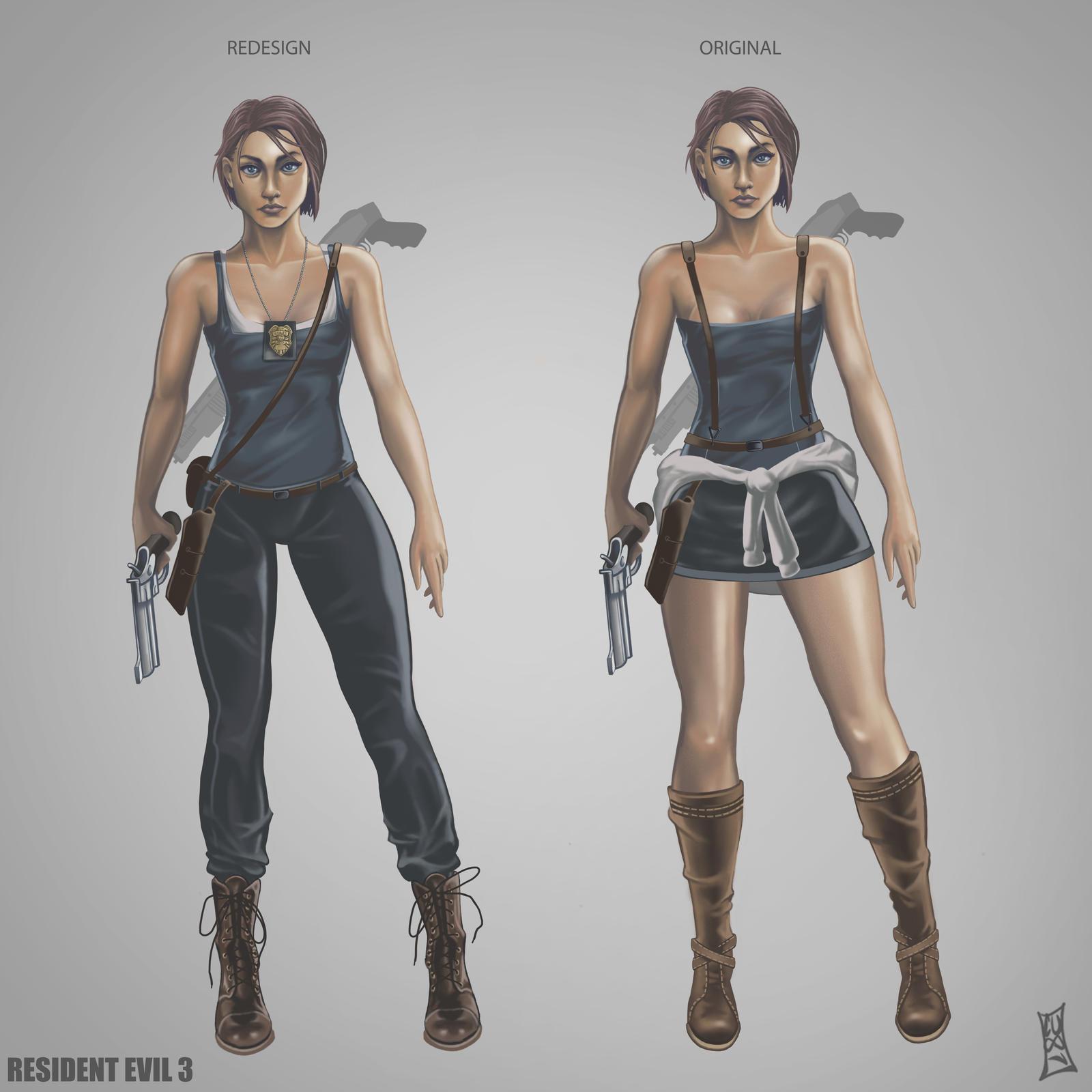 Resident Evil 3 Remake Jill Concept By Code Umb87 On Deviantart
