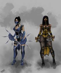 Kitana and Tanya MK11 Concept by CODE-umb87