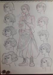 Kat DmC sketch by CelesteLunaR53L