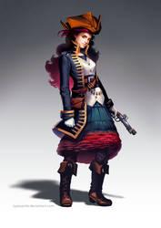 Female pirate character design