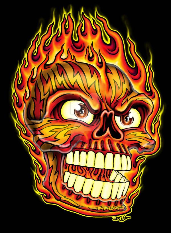 Skull on fire by britt8m on deviantart skull on fire by britt8m voltagebd Choice Image