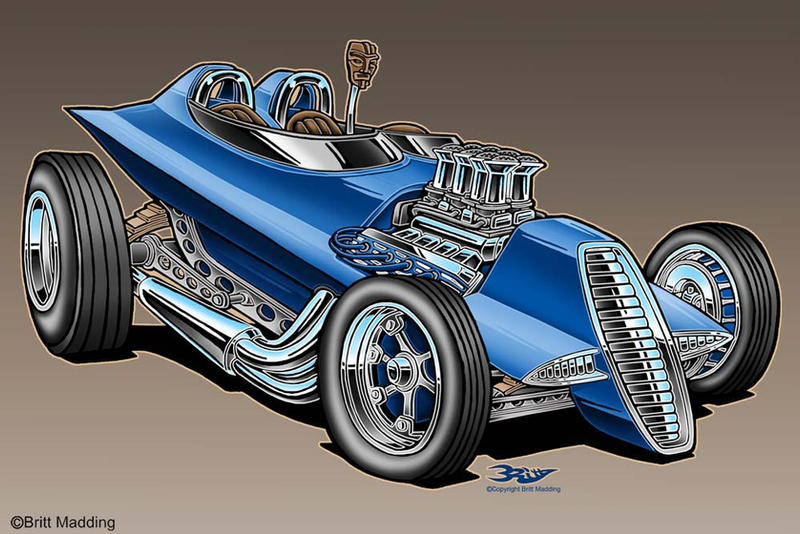 Martian Tiki Rat Rod Hot Rod Art