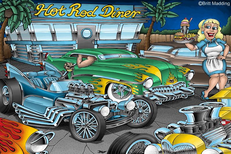 Hot Rod Diner by Britt8m