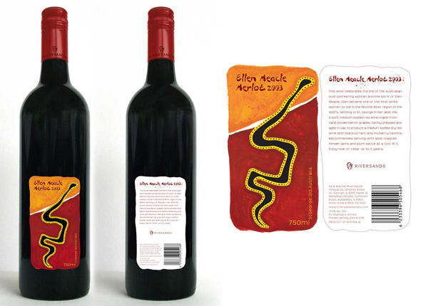 Red Wine Label Design by Melpollie