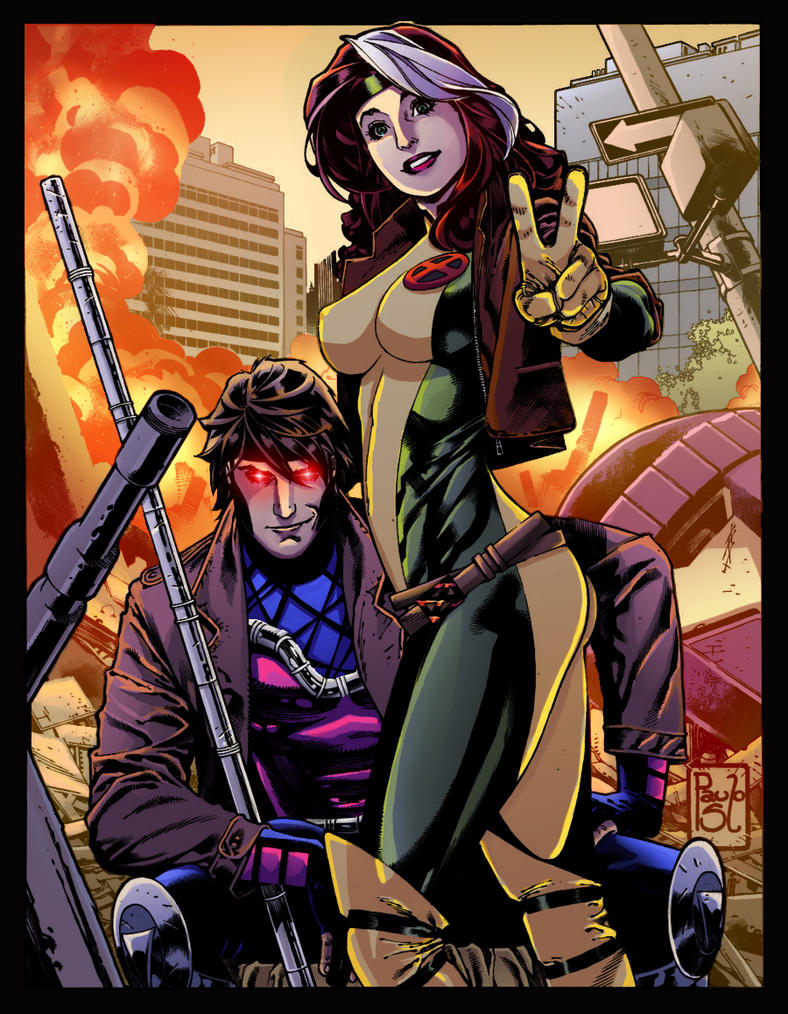 Rogue and Gambit Colors by xteh