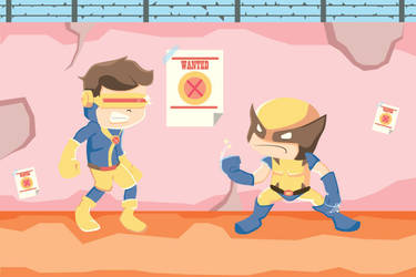 Ciclops Vs  Wolverine by sayhelloriot
