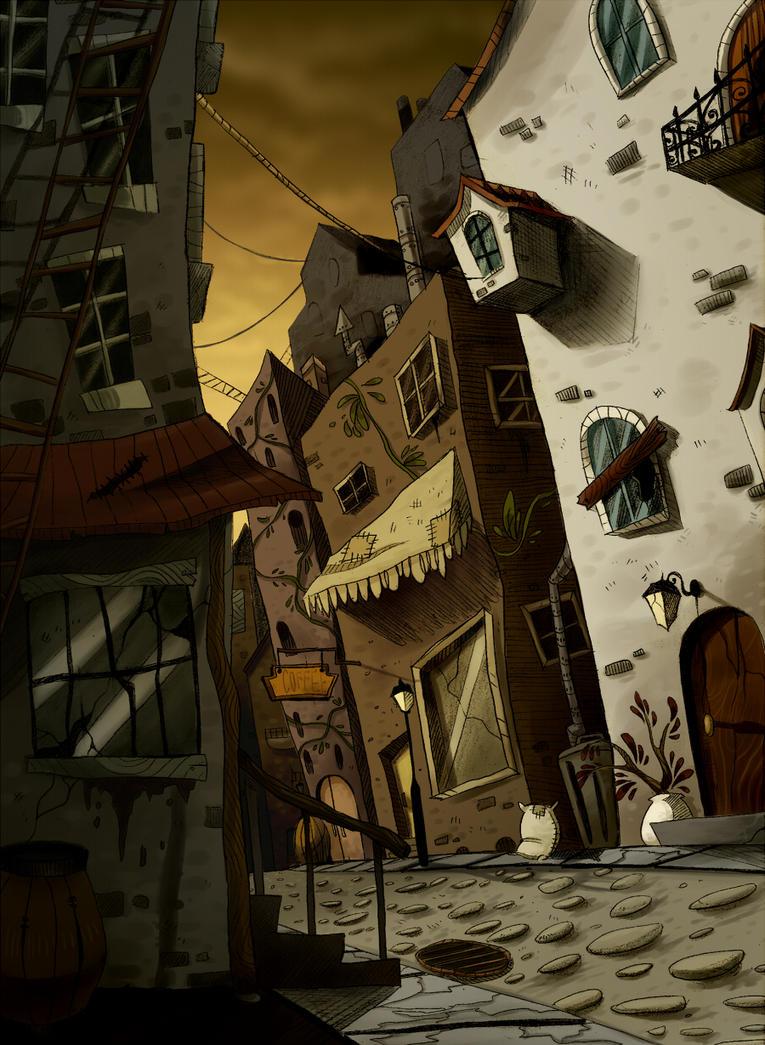 ramshackle streets by FailTaco