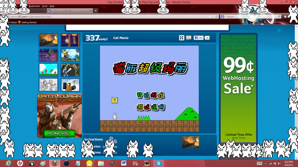 Play game cat mario 3