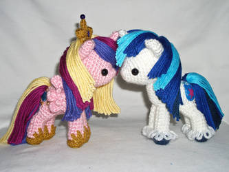 cadence and shining armor miniplushies by MasterPlanner