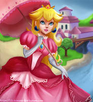 Princess Peach Ombrelle by lili-tomato