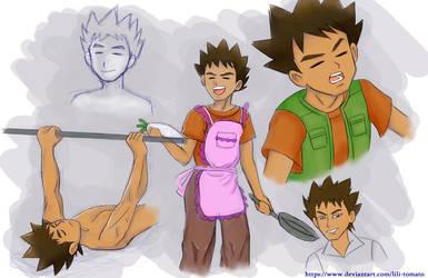 Sketch study: Brock