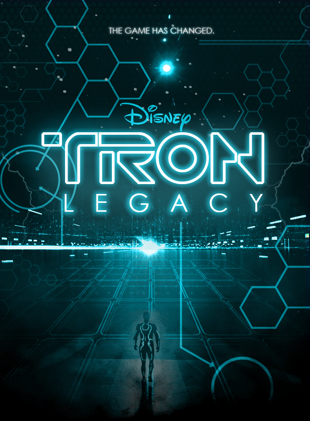 tron movie poster by yeti labs on deviantart