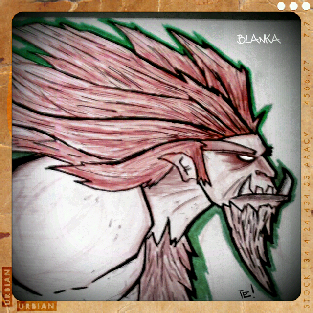Street Fighter Sketch - Blanka by Yeti-Labs