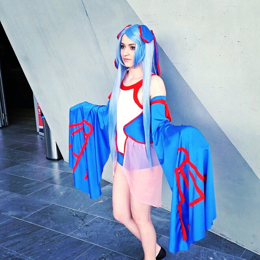 My cosplay of kyogre human form by Kiba-wolf77