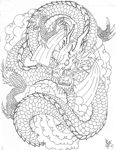 dragon tattoo sketches. dragon tattoos gallery.