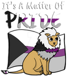 Demisexual Pride Lion- With Text