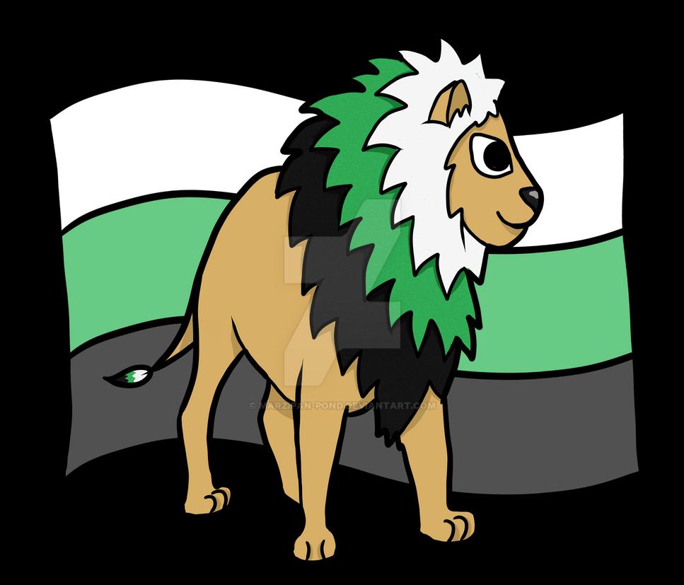 Neutrois Pride Lion by marzipan-pond