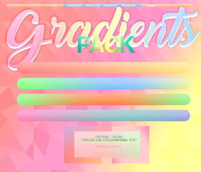 //Pastelgradients|1| by rqinsun
