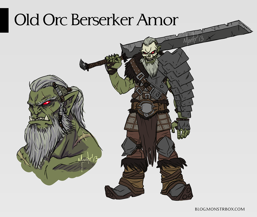 Gabriel Bloodshot Old_orc_berserker___armor_concept_design_by_monstrbox-d6itjnm