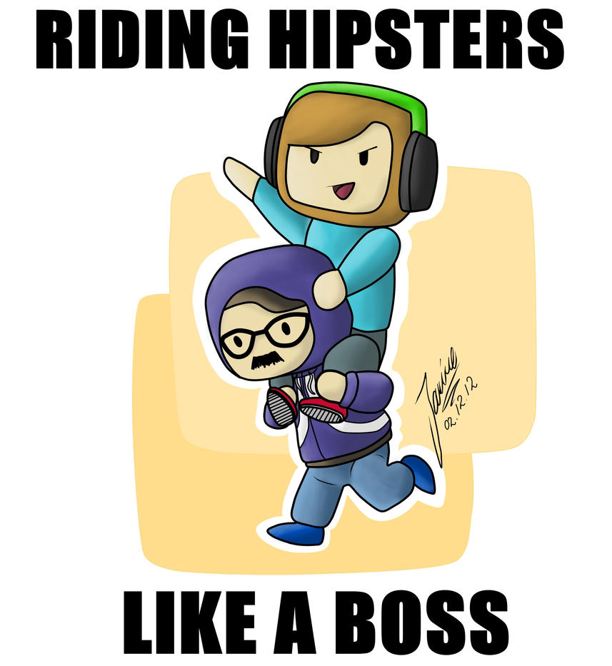 Riding Hipsters Like A Boss - PewDiePie by Wheeljack-94