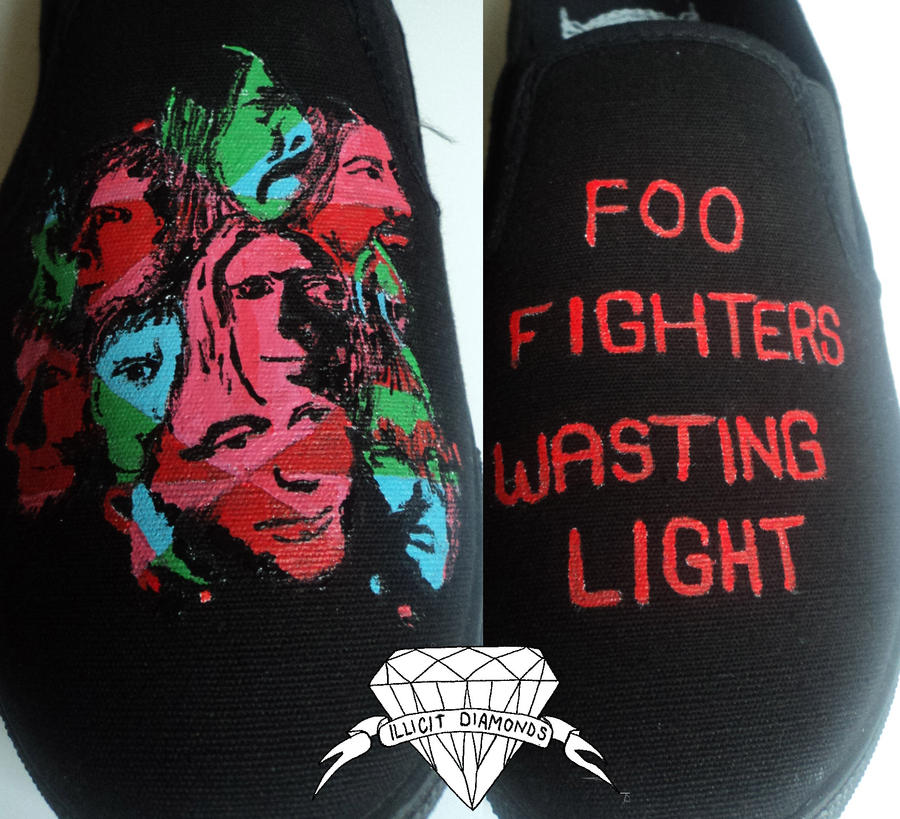 Foo Fighters Shoes by Illicit-Diamonds