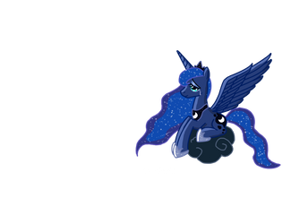 Princess Luna crying (without background) by PrettyLittleWolf