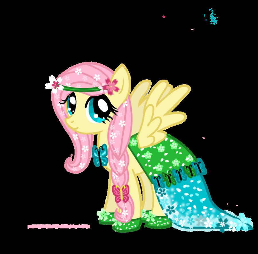 Fluttershy's new Gala Dress by PrettyLittleWolf