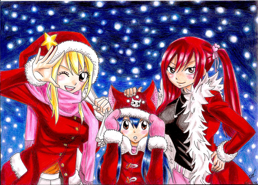 fairy tail anime christmas wallpaper - photo #7