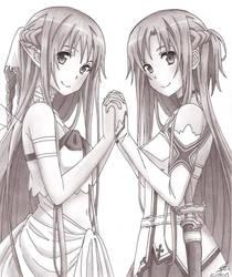 Asuna Alfheim and Sword Art Online by PrettyLittleWolf