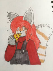Pizza time for Maple.