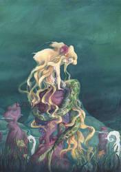 Mermaid submerged by IzZYJames-art