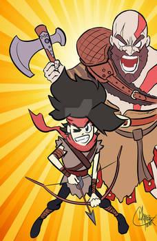 Kratos X Toli OC Fanart