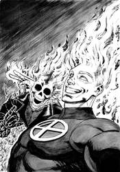 Ghost Rider X Human Torch