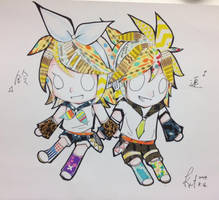 Masking tape Rin and Ren by EpicBlues