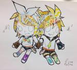 Masking tape Rin and Ren