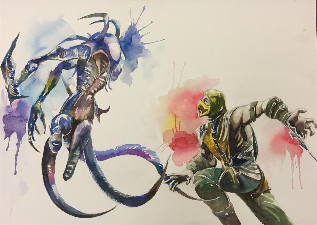 scorpion mortal kombat 10 wallpaper