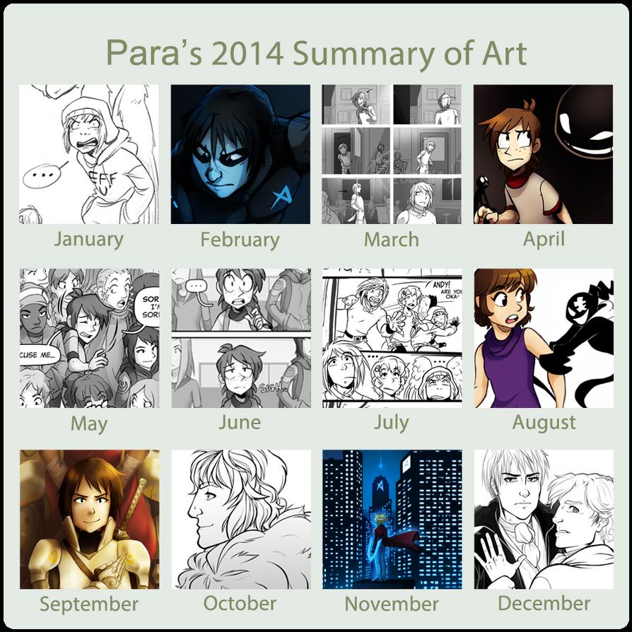 Para's 2014 Summary of Art by ReincarnatedParano