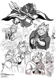 Fan Art - King Asgore by ParaParano