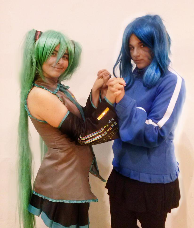 Miku and Ene 1 by Cometshina