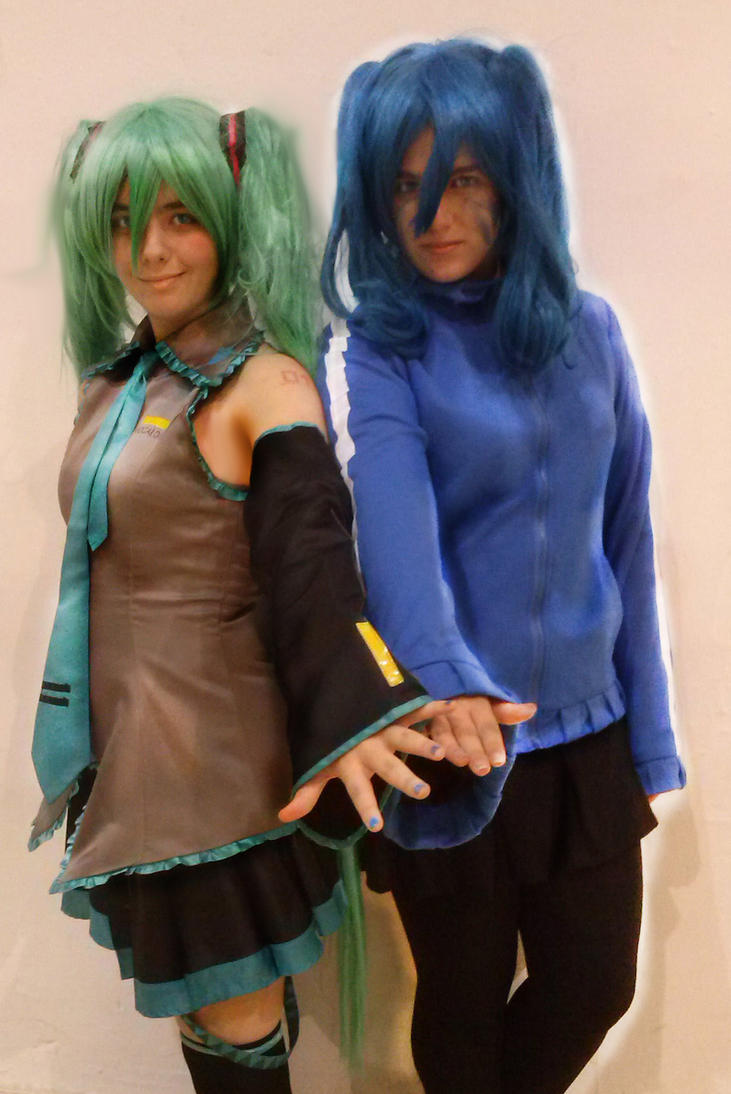 Miku and Ene 2 by Cometshina