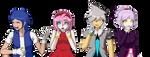 Human! Sonic sprites Danganronpa style by Cometshina